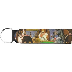 Dogs Playing Poker by C.M.Coolidge Neoprene Keychain Fob
