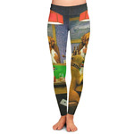 Dogs Playing Poker by C.M.Coolidge Ladies Leggings
