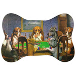 Dogs Playing Poker by C.M.Coolidge Bone Shaped Dog Food Mat