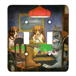 Dogs Playing Poker by C.M.Coolidge Light Switch Cover (2 Toggle Plate)
