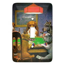Dogs Playing Poker by C.M.Coolidge Light Switch Covers