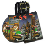 Dogs Playing Poker by C.M.Coolidge Plastic Luggage Tags