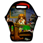 Dogs Playing Poker by C.M.Coolidge Lunch Bag