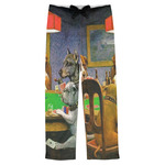 Dogs Playing Poker by C.M.Coolidge Mens Pajama Pants