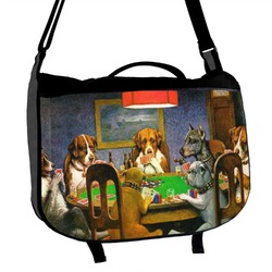 Dogs Playing Poker by C.M.Coolidge Messenger Bag