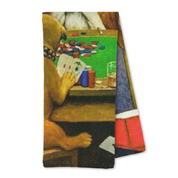 Dogs Playing Poker by C.M.Coolidge Microfiber Kitchen Towel