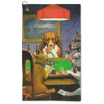 Dogs Playing Poker by C.M.Coolidge Microfiber Golf Towel - Large