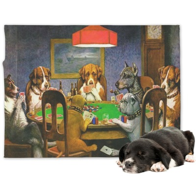 Dogs Playing Poker by C.M.Coolidge Dog Blanket