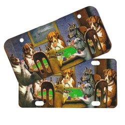 Dogs Playing Poker by C.M.Coolidge Mini/Bicycle License Plates