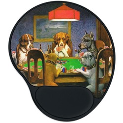 Dogs Playing Poker 1903 C.M.Coolidge Mouse Pad with Wrist Support
