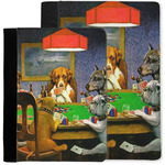 Dogs Playing Poker by C.M.Coolidge Notebook Padfolio