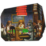 Dogs Playing Poker by C.M.Coolidge Dining Table Mat - Octagon