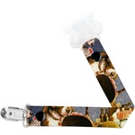 Dogs Playing Poker by C.M.Coolidge Pacifier Clips