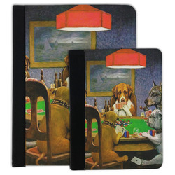 Dogs Playing Poker by C.M.Coolidge Padfolio Clipboard