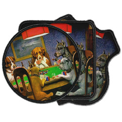 Dogs Playing Poker by C.M.Coolidge Iron on Patches