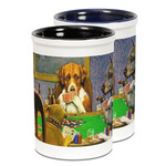 Dogs Playing Poker by C.M.Coolidge Ceramic Pencil Holder - Large