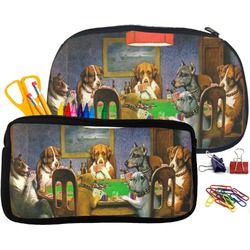 Dogs Playing Poker by C.M.Coolidge Pencil / School Supplies Bag