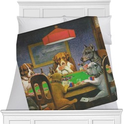 Dogs Playing Poker by C.M.Coolidge Blanket