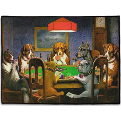 Dogs Playing Poker 1903 C.M.Coolidge Door Mat