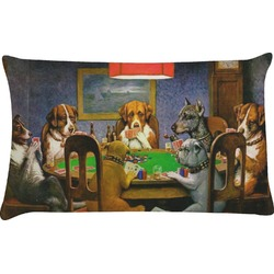 Dogs Playing Poker by C.M.Coolidge Pillow Case