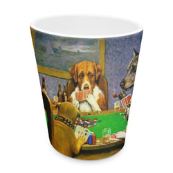 Dogs Playing Poker by C.M.Coolidge Plastic Tumbler 6oz