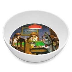 Dogs Playing Poker by C.M.Coolidge Melamine Bowl 8oz