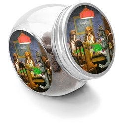 Dogs Playing Poker by C.M.Coolidge Puppy Treat Jar