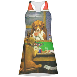 Dogs Playing Poker by C.M.Coolidge Racerback Dress