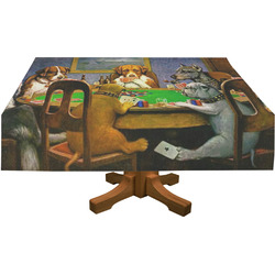 Dogs Playing Poker by C.M.Coolidge Tablecloth
