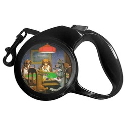 Dogs Playing Poker by C.M.Coolidge Retractable Dog Leash - Multiple Sizes