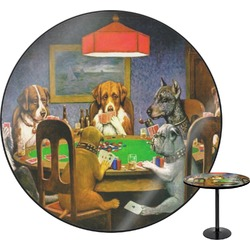Dogs Playing Poker by C.M.Coolidge Round Table