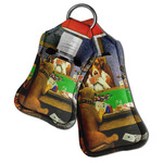 Dogs Playing Poker by C.M.Coolidge Hand Sanitizer & Keychain Holder