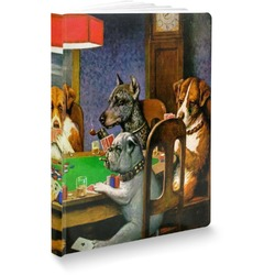 Dogs Playing Poker by C.M.Coolidge Softbound Notebook