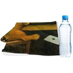 Dogs Playing Poker by C.M.Coolidge Sports & Fitness Towel
