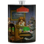 Dogs Playing Poker 1903 C.M.Coolidge Stainless Steel Flask