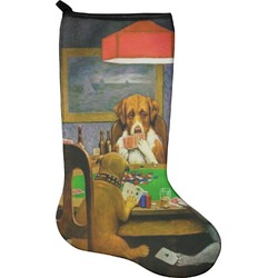Dogs Playing Poker by C.M.Coolidge Holiday Stocking - Neoprene