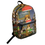 Dogs Playing Poker by C.M.Coolidge Student Backpack