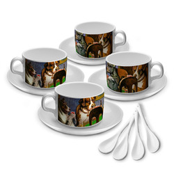 Dogs Playing Poker 1903 C.M.Coolidge Tea Cup - Set of 4