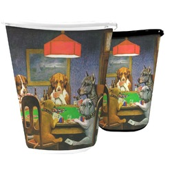 Dogs Playing Poker by C.M.Coolidge Waste Basket