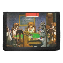 Dogs Playing Poker 1903 C.M.Coolidge Trifold Wallet