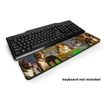 Dogs Playing Poker by C.M.Coolidge Keyboard Wrist Rest