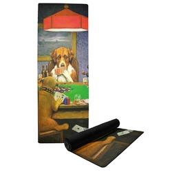 Dogs Playing Poker 1903 C.M.Coolidge Yoga Mat