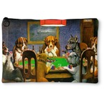 Dogs Playing Poker by C.M.Coolidge Zipper Pouch - Small - 8.5