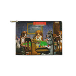 "Dogs Playing Poker by C.M.Coolidge Zipper Pouch - Small - 8.5""x6"""