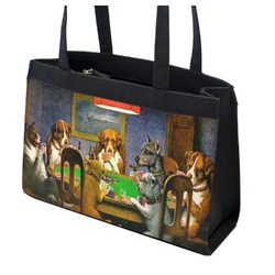 Dogs Playing Poker by C.M.Coolidge Zippered Everyday Tote