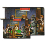 Dogs Playing Poker by C.M.Coolidge Zipper Pouch