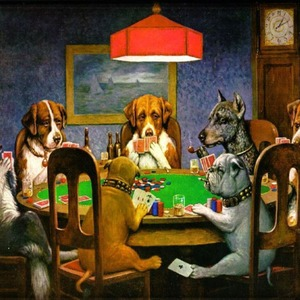 Dogs Playing Poker by C.M.Coolidge