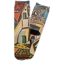 Mediterranean Landscape by Pablo Picasso Adult Crew Socks