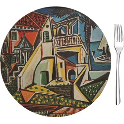 "Mediterranean Landscape by Pablo Picasso Glass Appetizer / Dessert Plates 8"" - Single or Set"