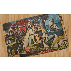 Mediterranean Landscape by Pablo Picasso Area Rug